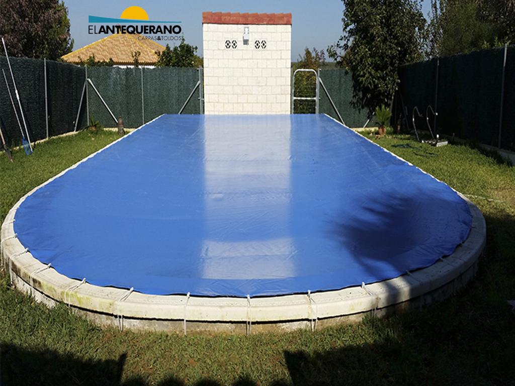 Cubiertas de piscina carpas y toldos el antequerano for Cubiertas de lona para piscinas