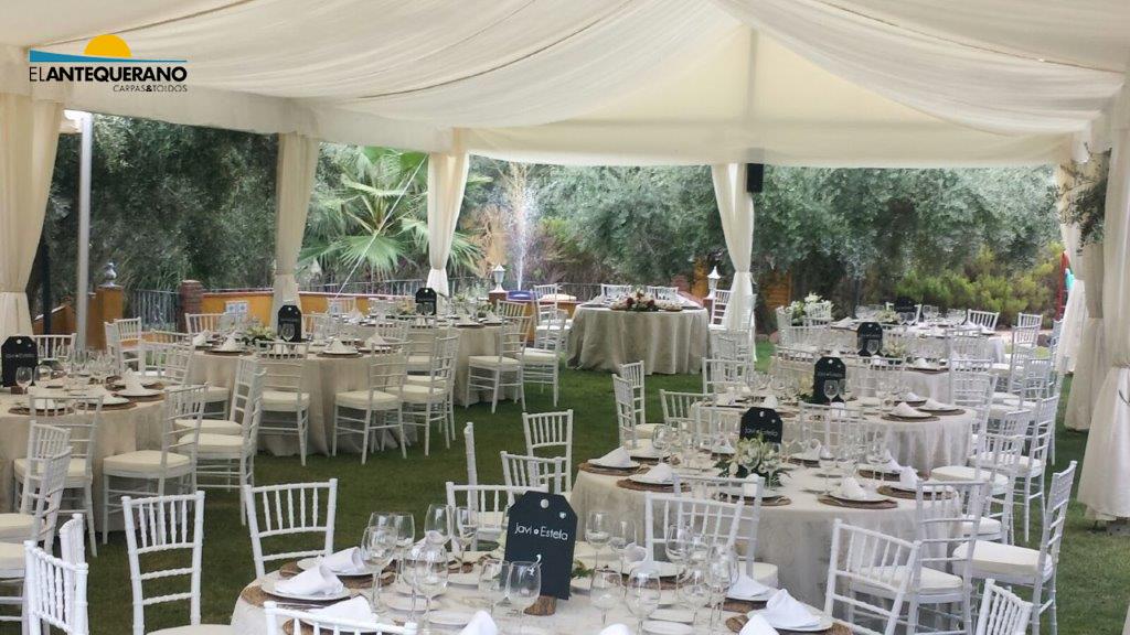Carpas para tu boda carpas y toldos el antequerano - Decoracion de carpas para bodas ...