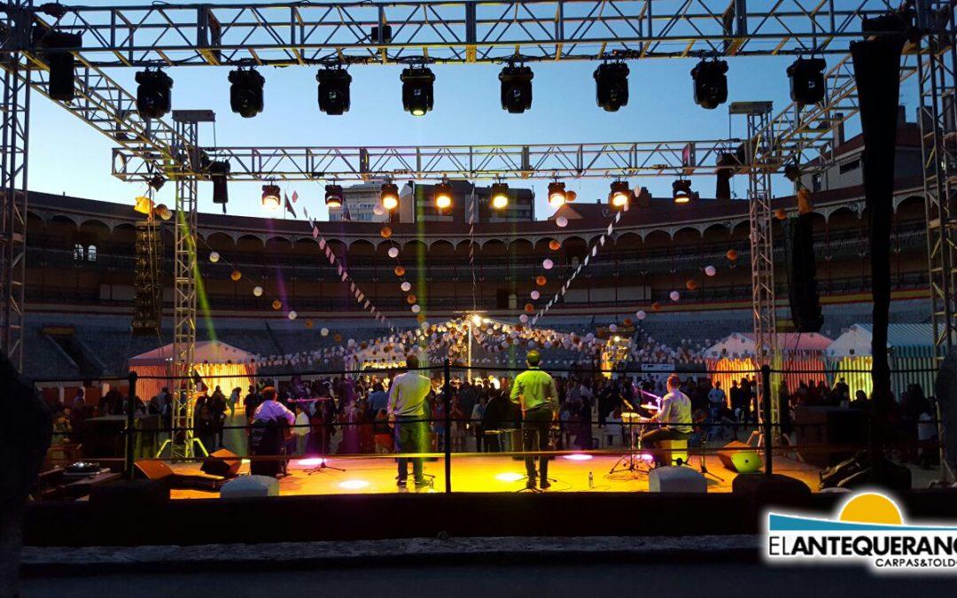 Montaje de escenarios en Sevilla. Logra el escenario perfecto