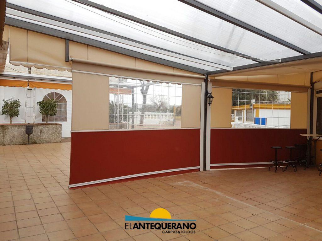 Toldos para porches de casas elegant toldo extensible - Toldos para porches ...